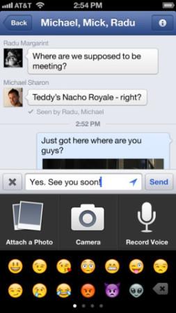 Facebook、iOSアプリをアップデートしボイスメッセージ機能や動画録画機能を実装