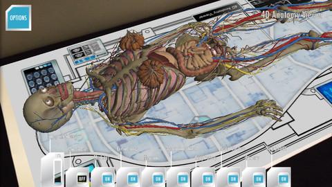 ARで人体模型を表示する教育用iOS向けアプリ「Anatomy 4D」1