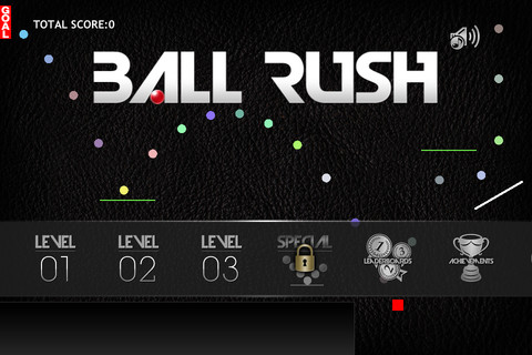 エーブレイン、ボールをゴールまで誘導するiOS向けパズルゲーム「BALL RUSH」をリリース1