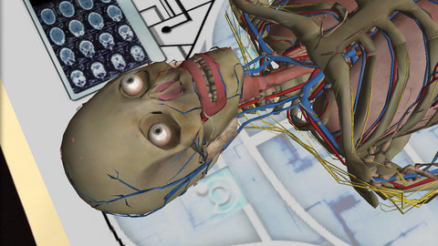 ARで人体模型を表示する教育用iOS向けアプリ「Anatomy 4D」2