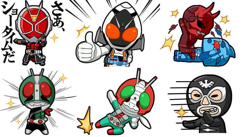 DeNA、スマホ向けメッセージングアプリ「comm」にて「仮面ライダーシリーズ 平成・昭和編」のスタンプを提供開始