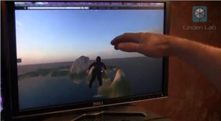 手でコンピューターを操作できる「Leap」で3D仮想空間「Second Life」を操作するとこうなる