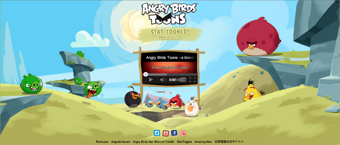 Angry Birdsのアニメシリーズ「Angry Birds Toons」、3/16より公開!