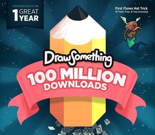 Zyngaのスマホ向けお絵描きソーシャルゲーム「Draw Something」、リリースから1年で1億ダウンロード突破! これまでに描かれた絵は110億点1