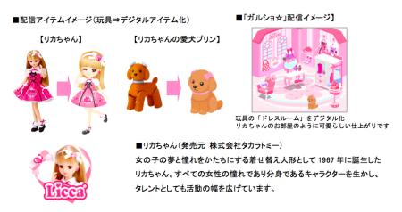 enish、ソーシャルゲーム「ぼくのレストラン2」「ガルショ☆」にて「リカちゃん」とコラボ!2