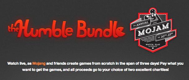 Minecraft運営のMojang、ゲーム開発によるチャリティーイベント「Humble Bundle Mojam2」開催