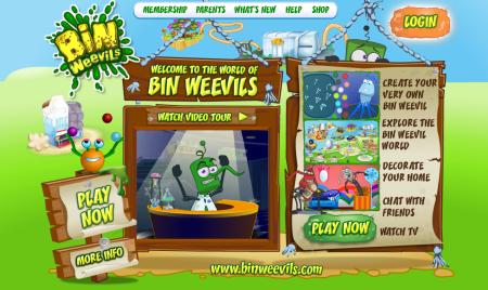 イギリスの子供向け仮想空間「Bin Weevils」、2000万ユーザー突破
