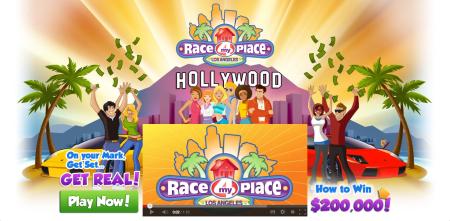 ゲームをプレイすると現実の特典がもらえる?! 米PopRox Entertainmentが金券やiPadが貰えるソーシャルゲーム「Race 4 My Place」をリリース