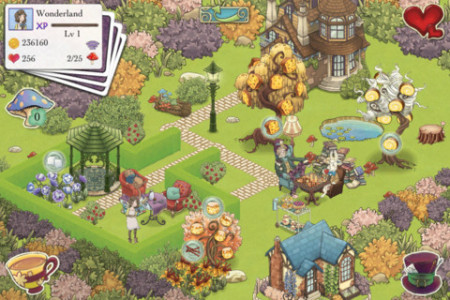 ポッピンゲームズジャパン、iOS向けソーシャルゲームアプリ「アリスの不思議なティーパーティー」をリリース2