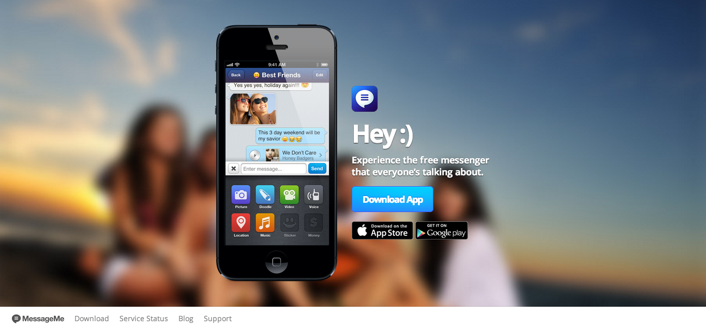 アメリカ発のスマホ向けメッセージングアプリ「MessageMe」、リリースから1週間で100万ユーザー突破!