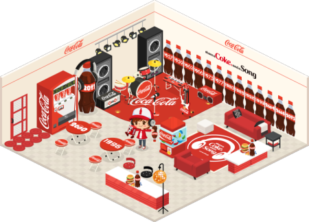 LINE Playでも企業とのタイアップを開始! 第1弾としてコカ・コーラ、ローソン、リポビタンD、パナソニックの限定アイテムを提供1