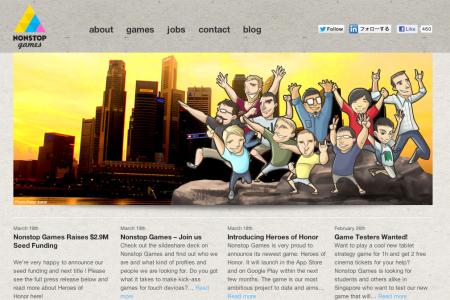シンガポールにあるけどフィンランド人の会社---スマホ向けソーシャルゲームディベロッパーのNonstop Games、北欧のベンチャーキャピタルから290万ドル資金調達