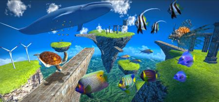 LINE GAMEに初のフル3Dゲームが登場! 海底遊泳が楽しめる「LINE EASY DIVER」リリース4