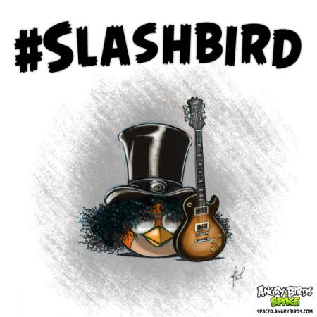 奇跡のコラボ! ロックギタリストのSlash、Angry Birds Spaceのテーマ曲を演奏1