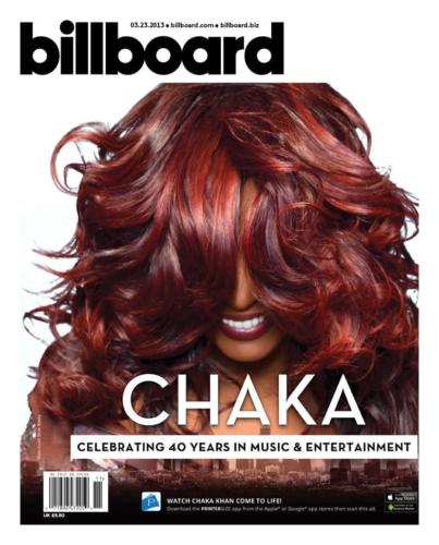 R&Bシンガーのチャカ・カーン、BILLBOARD MAGAZINEの表紙でARコンテンツを発表