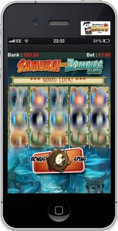 米モバイルゲームパブリッシャーのGlu Mobile、イギリス向けにリアルマネーを賭けて遊べるスマホ向けスロットゲーム「Samurai vs Zombies Slots」をリリース2
