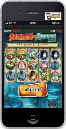 米モバイルゲームパブリッシャーのGlu Mobile、イギリス向けにリアルマネーを賭けて遊べるスマホ向けスロットゲーム「Samurai vs Zombies Slots」をリリース3