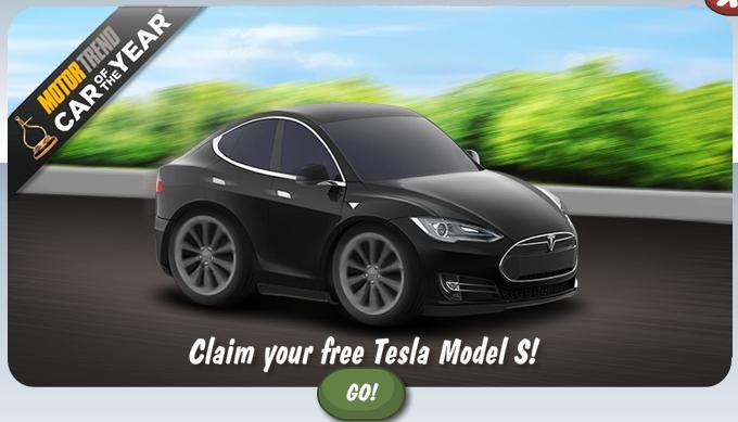 テスラモーターズ、ソーシャルゲーム「Car Town」にて電気自動車「モデルS」をプロモーション