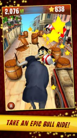 Zynga、スペインの牛追い祭を題材としたiOS向けアクションゲーム「Running with Friends」を正式リリース3