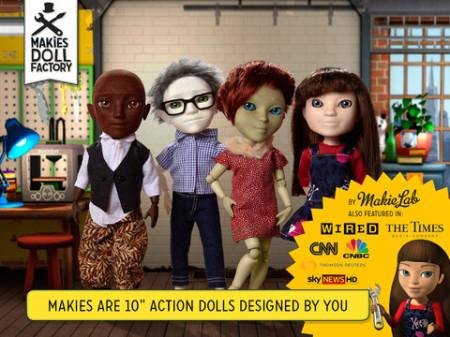 iPadから3Dプリンタ製ドールをカスタムして発注できるアプリ「Makies Doll Factory」、14万ダウンロード突破!---これまで30万体のドールが作られる