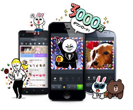 LINEの公式カメラアプリ「LINE camera」、累計3000万ダウンロードを突破!
