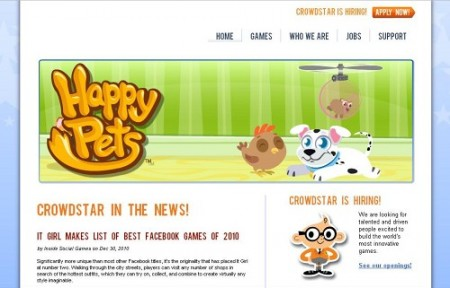 米大手ソーシャルゲームディベロッパーのCrowdStar、2300万ドル資金調達