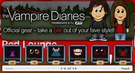 米ドラマ「Vampire Diaries」、WeeWorldにてプロモーション