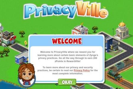 Zynga、ユーザー・プライバシーを説明するコンテンツ「PrivacyVille」を開設