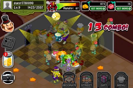 iPhoneアプリ「Zombie Restaurant」、米国人気アプリランキング無料部門のTOP10にランクイン