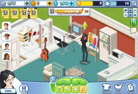 EAのソーシャルゲーム「The Sims Social」が急成長
