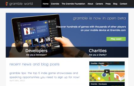 チャリティ専門ソーシャルゲームプラットフォーム「Gramble」、アップデートを行い新サイトもオープン