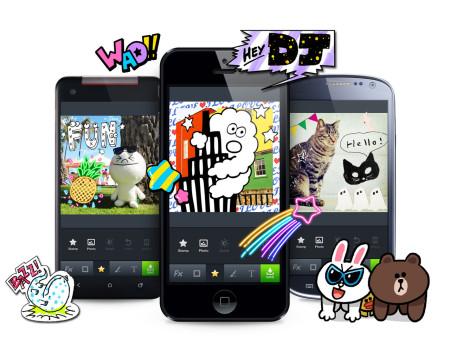 LINE、スマホ向けカメラアプリ「LINE camera」にてキャラクターや人気イラストレーターのスタンプが購入できる「スタンプショップ」を全世界同時オープン!1