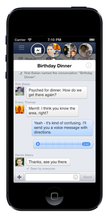 iOS版Facebook、アップデートでLINEっぽいスタンプ機能「Sticker」を追加3