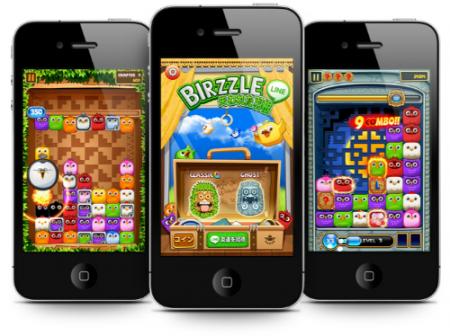NHN Japan、スマホ向け無料通話・メールアプリ「LINE」と連携したゲーム「LINE Birzzle」をリリース1