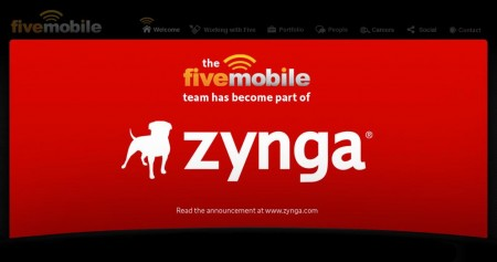 Zynga、カナダのモバイル向けアプリディベロッパーFive Mobileを買収