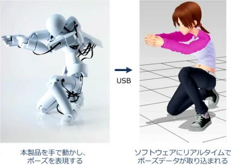 ソフトイーサ、人形型3D入力デバイス「QUMA」を公開