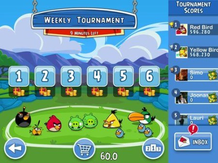 Rovio、Angry Birdsのソーシャルゲーム版「Angry Birds Friends」をスマホアプリ化!2
