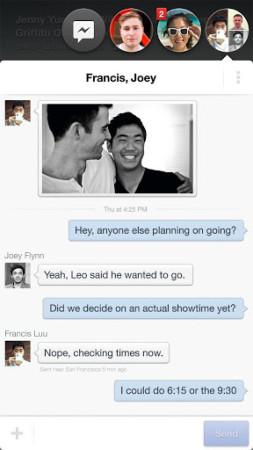 画面上に表示されている友達のアイコンをタップするとそのままメッセージの送受信やリアルタイムチャットが楽しめるコミュニケーション機能「Chat heads」3