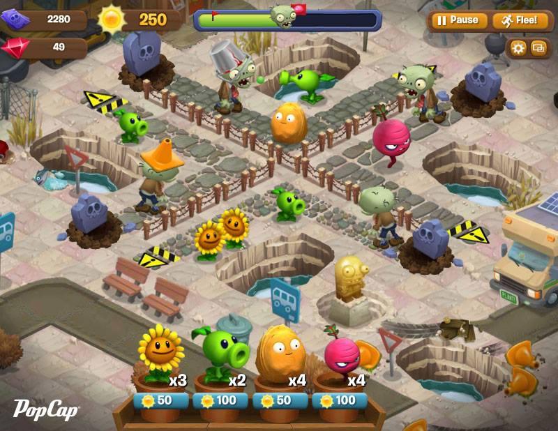 「Plants Vs. Zombies 2」の前に…PopCap Games、スピンオフタイトル「Plants vs. Zombies Adventures」をFacebookにてリリース!1