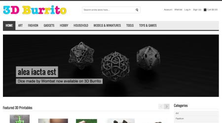 スウェーデン発の3Dモデル専門マーケットプレイス「3D Burrito」オープン!