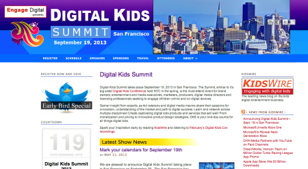 9/19、サンフランシスコにて子供向けのデジタルコンテンツに関するカンファレンスイベント「Digital Kids Summit」開催