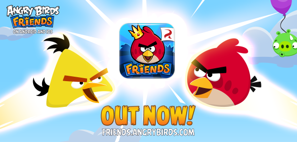ソーシャル要素も楽しめる! Rovio、スマホ版「Angry Birds Friends」をリリース1