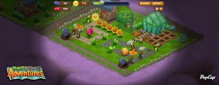 「Plants Vs. Zombies 2」の前に…PopCap Games、スピンオフタイトル「Plants vs. Zombies Adventures」をFacebookにてリリース!3