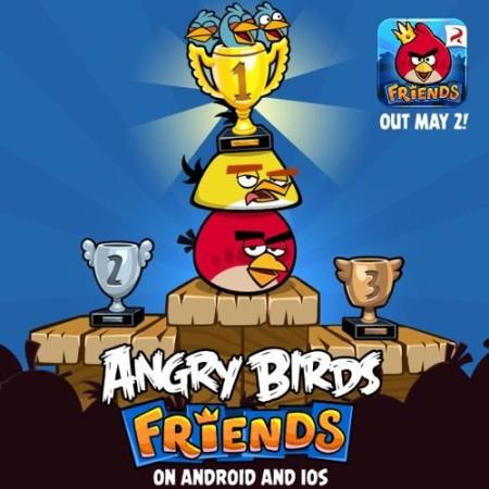ソーシャルゲーム版Angry Birdsの「Angry Birds Friends」、5/2にスマホ版をリリース!