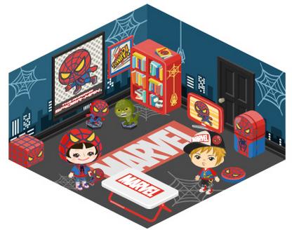 アメーバピグをスパイダーマンがジャック!?  マーベルの「スパイダーマン」との期間限定コラボエリアがオープン!4