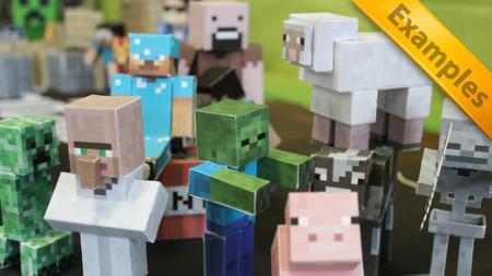 「Minecraft」が手のひらに! 57 Digital、「Minecraft」のペーパークラフトが作れるiOSアプリ「Minecraft Papercraft Studio」をリリース2