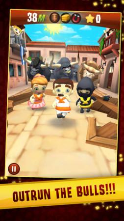 Zynga、スペインの牛追い祭を題材としたiOS向けアクションゲーム「Running with Friends」をグローバル展開1