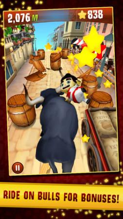 Zynga、スペインの牛追い祭を題材としたiOS向けアクションゲーム「Running with Friends」をグローバル展開3