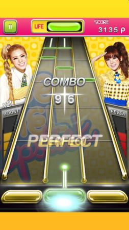 dooub、韓国の女性ボーカルユニット「Orange Caramel」のiOS向けリズムゲーム「Orange Caramel シェイク」をリリース3