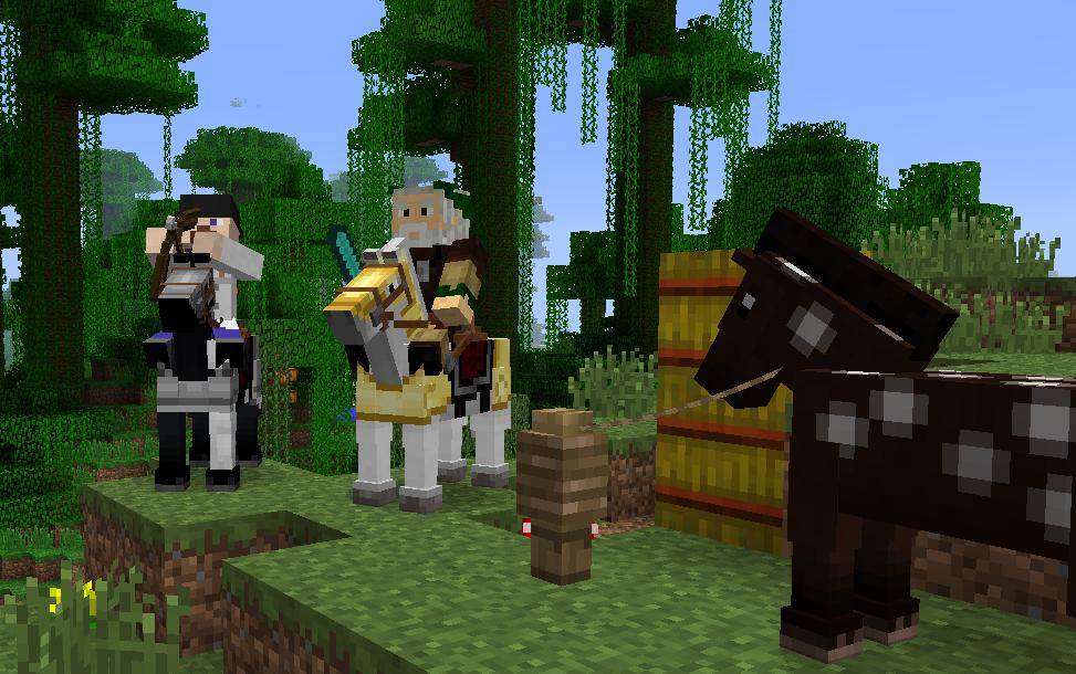 「Minecraft」に動物がやってくる! 最新アップデートで馬やロバに乗れる機能を実装